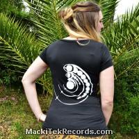 T-Shirt S Noir Femme Crop Circle 15