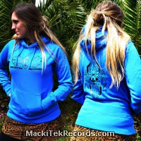 Sweat Femme Electric Blue MackiTek Geometrix V2