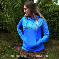 Sweat Femme Electric Blue MackiTek Geometrix V2