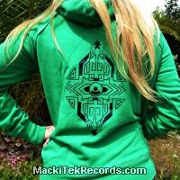 Sweat Vert Femme MackiTek Geometrix V2