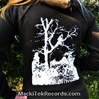 Sweat Femme Noir MackiTek Dance on Fire Under the Tree