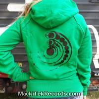 Sweat Vert Femme Crop Circle 15