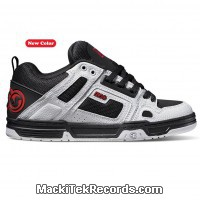 DVS Commanche Black White Red Leather Deegan
