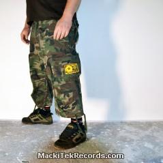 3-4 Pants Camouflage MackiTek K7 Jaune