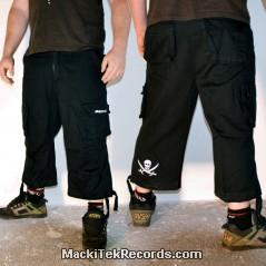 3-4 Pants Noir Pirate
