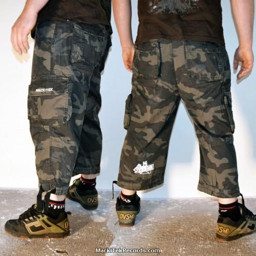 3-4 Pants Dark Camo MackiTek Underground