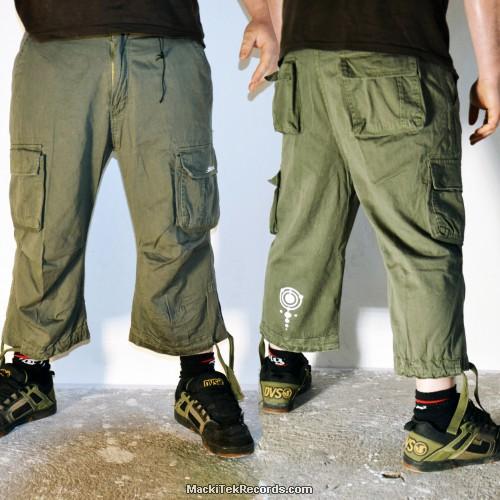3-4 Pants Olive MackiTek 1