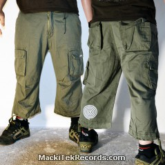 3-4 Pants Olive MackiTek Spiral