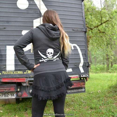 Veste Zip Dark Grey We Are Pirates