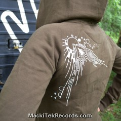 Veste Zip Marron MackiTek Abstract Solar