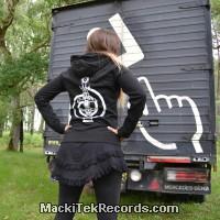 Sweat Femme Noir MackiTek Totem 2