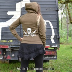 Veste Zip Marron We Are Pirates