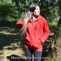 Zip Jacket Red Geometrix V2