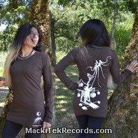 T-Shirt Manches Longues Marron Dark Hypno