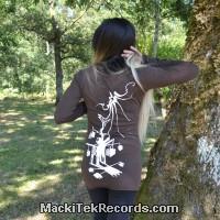 T-Shirt Manches Longues Marron Dark Hypno