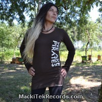 T-Shirt Manches Longues Marron Dark We Are Pirates