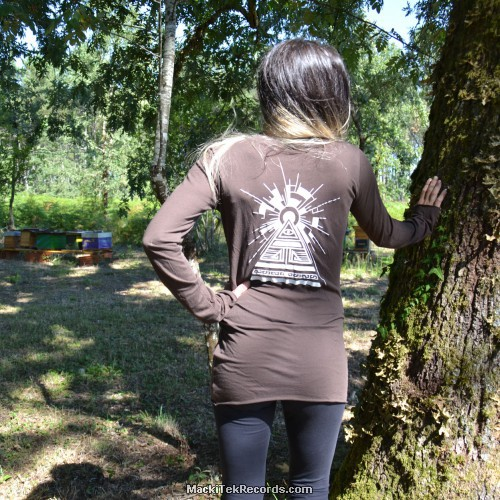 T-Shirt Manches Longues Marron Dark Solar Pyramid