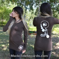T-Shirt Manches Longues Marron Dark MackiTek Records
