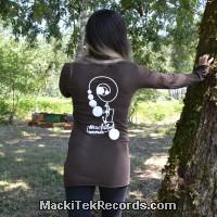 T-Shirt Manches Longues Marron Dark MackiTek Records