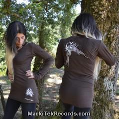 T-Shirt Manches Longues Marron Dark Abstract Solar