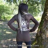 T-Shirt Manches Longues Marron Dark Solar Pyramid V3