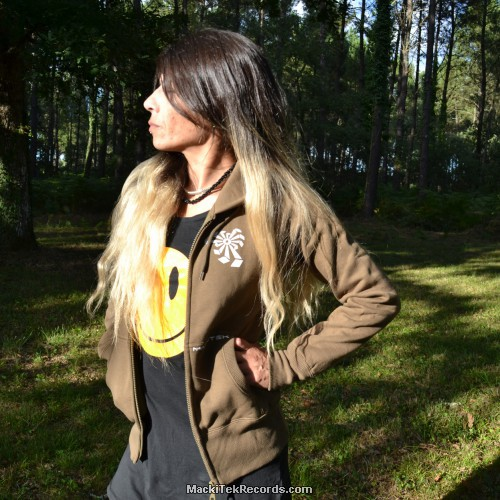 Veste Zip Marron Crop Circle 04