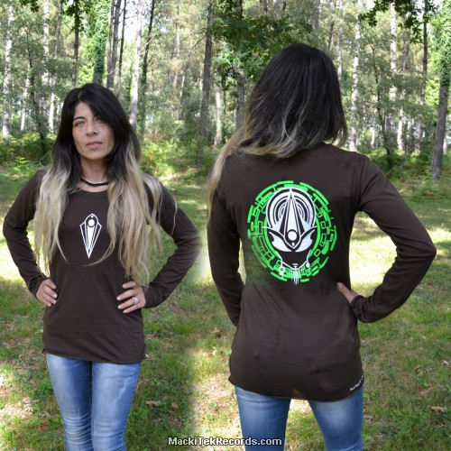 T-Shirt Manches Longues Marron Dark Mystik Alien Perfect Green