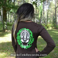 T-Shirt Manches Longues Marron Dark Mystik Alien Perfect Green