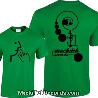 Tshirt Vert MackiTek Records v1