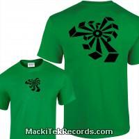 Tshirt Green Crop Circle 04