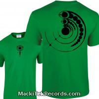 Tshirt Green Crop Circle 15