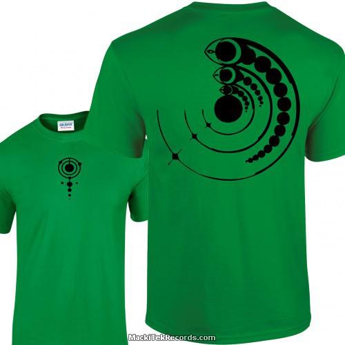 Tshirt Vert Crop Circle 15