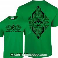 Tshirt Vert MackiTek Geometrix V2