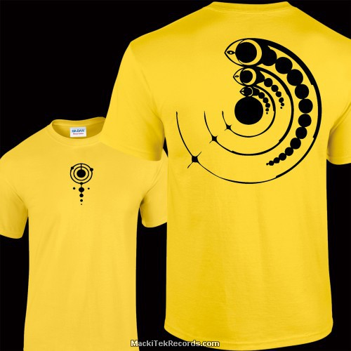 Tshirt Jaune Crop Circle 15