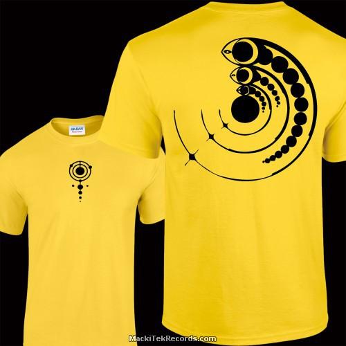 Tshirt Jaune Crop Circle 15
