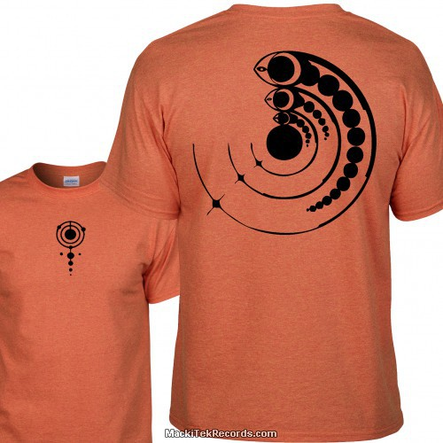 Tshirt Orange Crop Circle 15