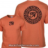 Tshirt Orange Horus Eye