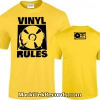 Tshirt Yellow Vinyl Rules