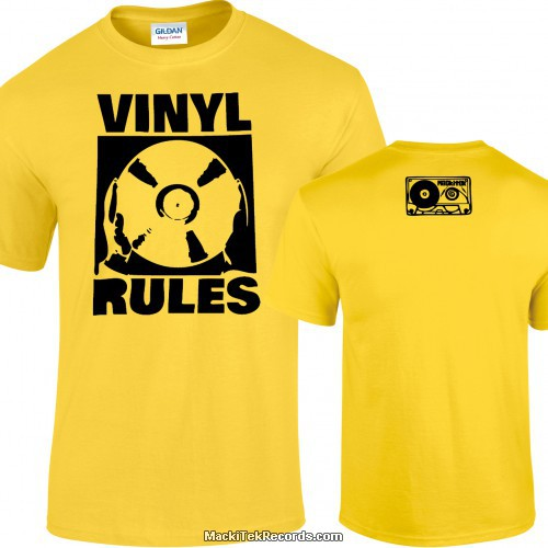Tshirt Jaune Vinyl Rules