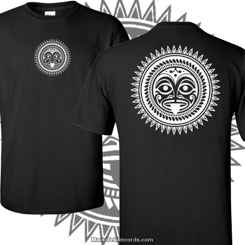 T-Shirt Noir Tribal Effect 2