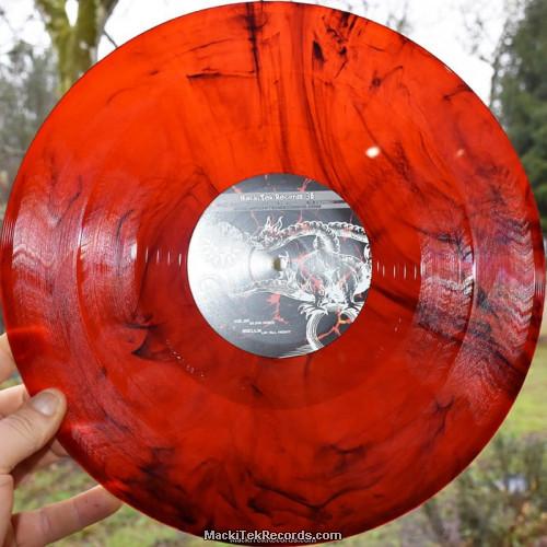 MackiTek Records 38 Red Black Marbred
