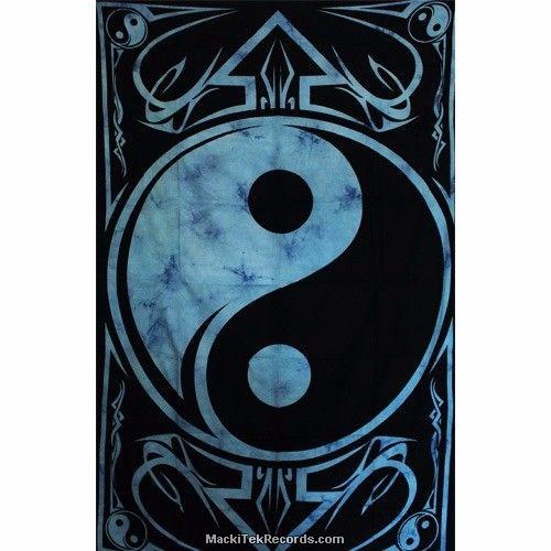 Tenture Yin Yang Tes130 Bleu