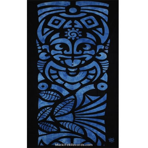 Tenture Tribal Bleu Tes140