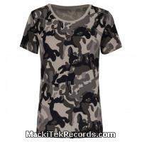 Tshirt Femme Grey Camo Uni