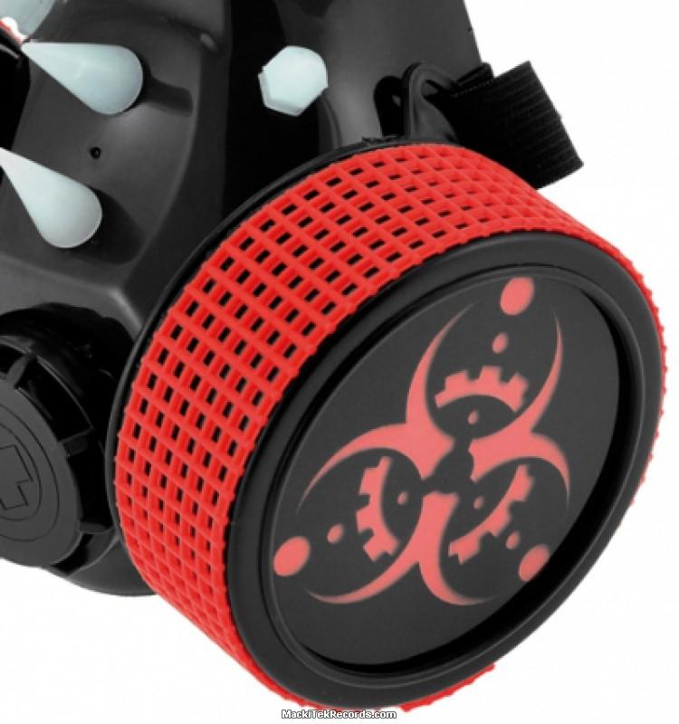 Gas Mask Cyber Red Biohazard Mackitek Records Shop