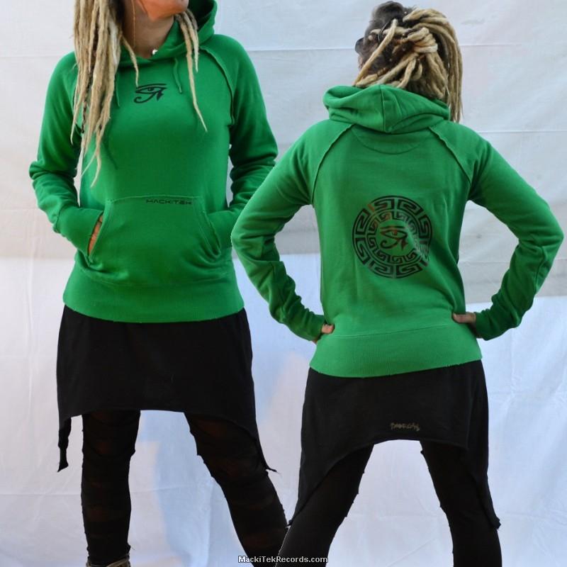 sweat vert femme horus eye mackitek records shop underground vinyls dealerz